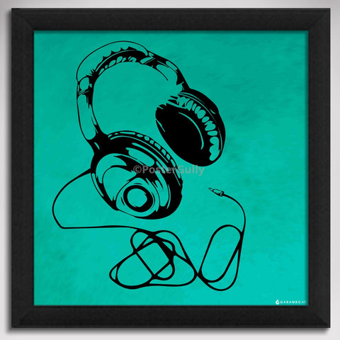 Canvas Art Prints, Headphones - Pop Art Framed Canvas Print, - PosterGully - 1