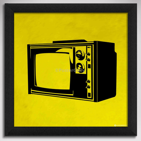 Canvas Art Prints, Television - Pop Art Framed Canvas Print, - PosterGully - 1