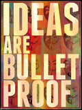 Canvas Art Prints, Ideas are Bulletproof Framed Canvas Print, - PosterGully - 3