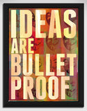 Canvas Art Prints, Ideas are Bulletproof Framed Canvas Print, - PosterGully - 1
