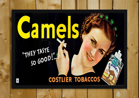 Glass Framed Posters, Camels Tobacco Glass Framed Poster, - PosterGully - 1