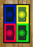 Glass Framed Posters, Camera Pop Art Glass Framed Poster, - PosterGully - 1