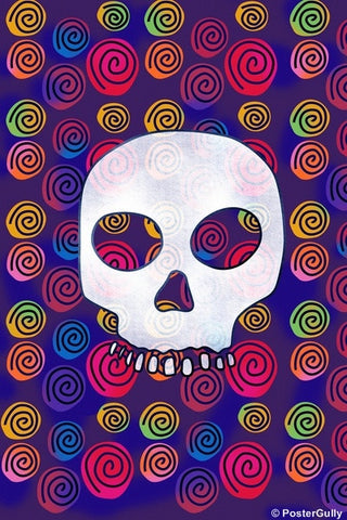 Wall Art, Candy Skull Artwork, - PosterGully