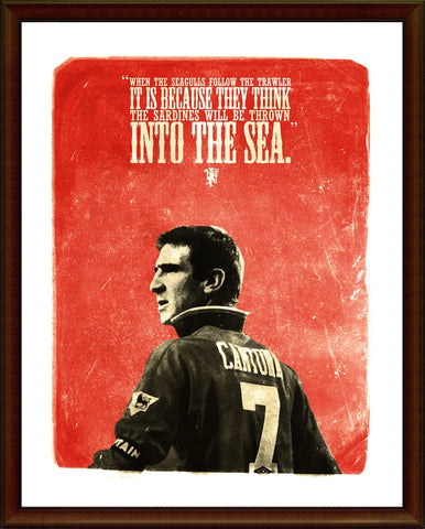 PosterGully Specials, Eric Cantona | The Legend | Manchester United, - PosterGully