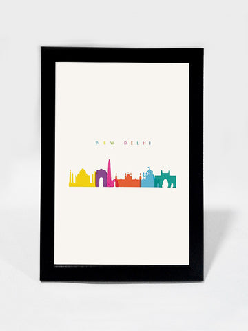 Framed Art, Capital New Delhi India Minimal Art | Framed Art, - PosterGully