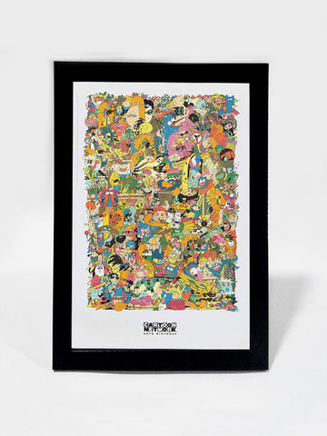 Framed Art, Cartoon Network 20th Birthday | Framed Art, - PosterGully