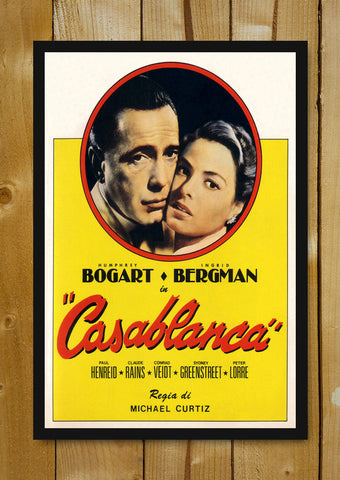 Glass Framed Posters, Casablanca Glass Framed Poster, - PosterGully - 1
