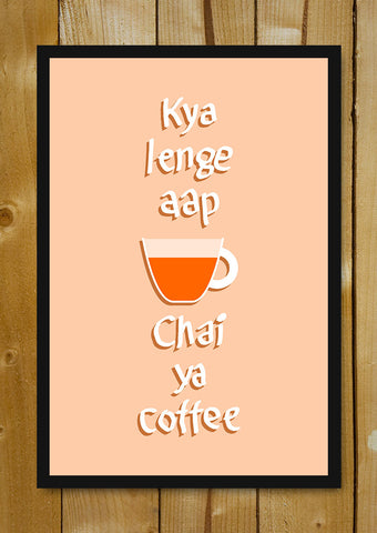 Glass Framed Posters, Chai ya Coffee Glass Framed Poster, - PosterGully - 1