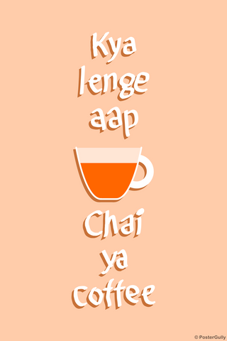 Wall Art, Chai ya Coffee, - PosterGully