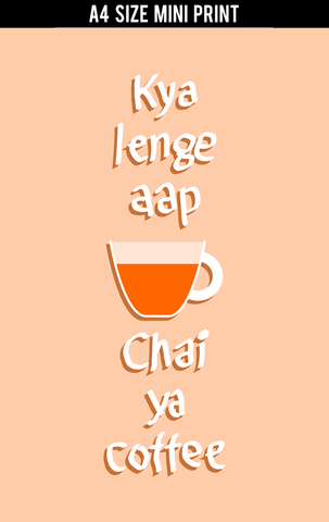 Mini Prints, Chai ya Coffee | Mini Print, - PosterGully