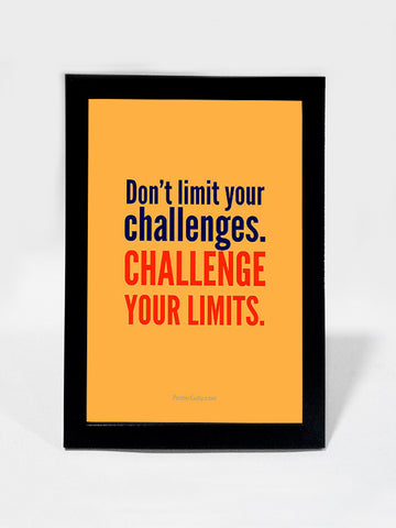 Framed Art, Challenge Your Limits | Framed Art, - PosterGully