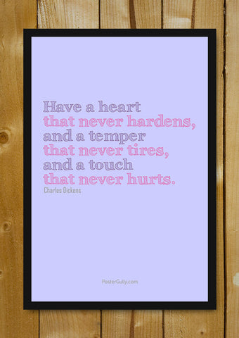 Glass Framed Posters, Charles Dickens Quote Glass Framed Poster, - PosterGully - 1