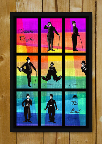 Glass Framed Posters, Charlie Chaplin Pop Art 1 Glass Framed Poster, - PosterGully - 1