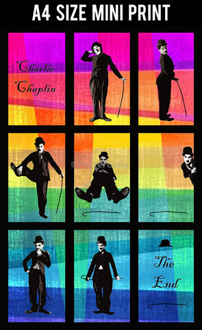 Mini Prints, Charlie Chaplin Pop Art 1 | Mini Print, - PosterGully