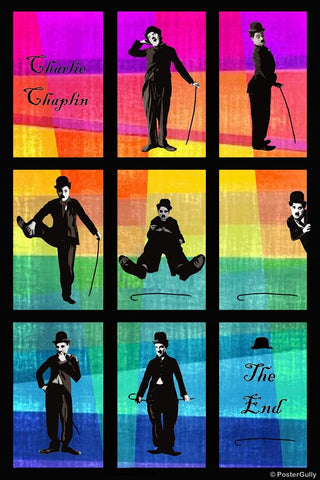 Wall Art, Charlie Chaplin Pop Art 1, - PosterGully