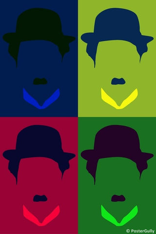 Wall Art, Charlie Chaplin Pop Art, - PosterGully