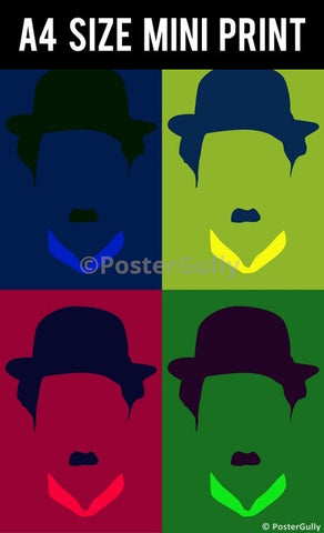 Mini Prints, Charlie Chaplin Pop Art | Mini Print, - PosterGully
