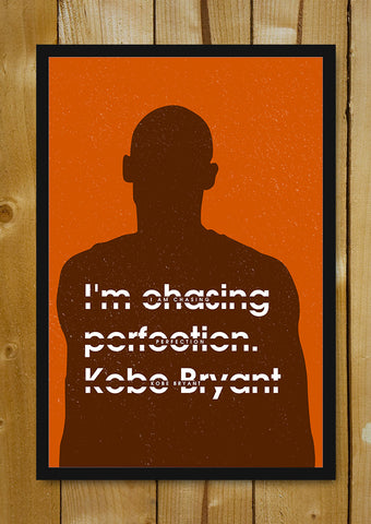 Glass Framed Posters, Chasing Perfection Kobe Bryant Glass Framed Poster, - PosterGully - 1