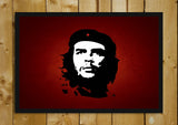 Glass Framed Posters, Che Guevara Red Glass Framed Poster, - PosterGully - 1
