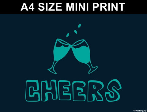 Mini Prints, Cheers | Pop Color | Mini Print, - PosterGully