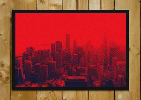 Glass Framed Posters, Chicago Red And Black Glass Framed Poster, - PosterGully - 1