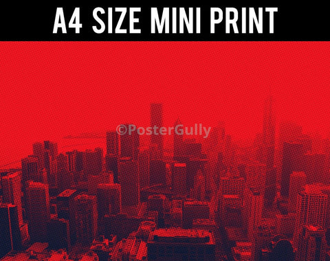 Mini Prints, Chicago | Red And Black | Mini Print, - PosterGully