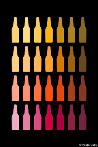 Wall Art, Chilled Beer Bottles, - PosterGully