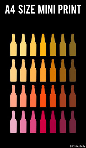 Mini Prints, Chilled Beer Bottles  | Mini Print, - PosterGully