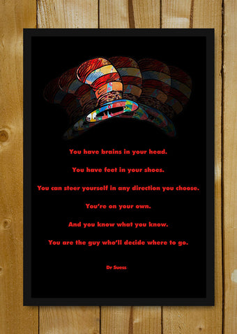 Glass Framed Posters, Choose Your Direction Quote Glass Framed Poster, - PosterGully - 1