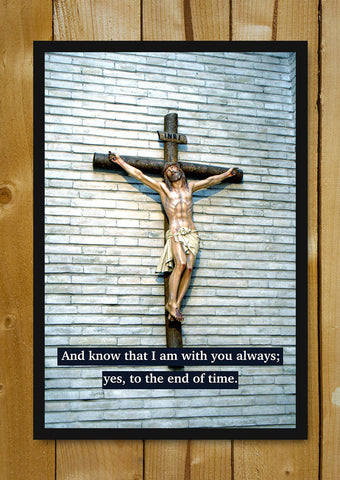 Glass Framed Posters, Christ With You Glass Framed Poster, - PosterGully - 1