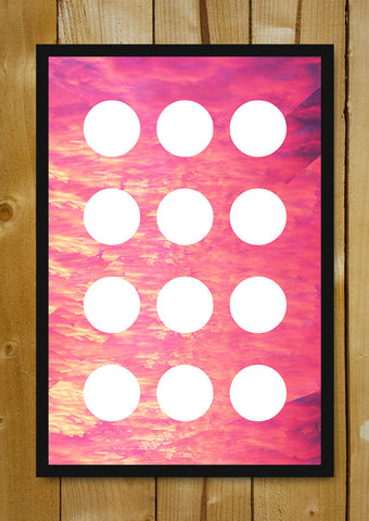 Glass Framed Posters, Circles Vanilla Sky Glass Framed Poster, - PosterGully - 1