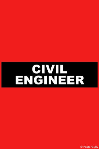 Wall Art, Civil Engineer, - PosterGully