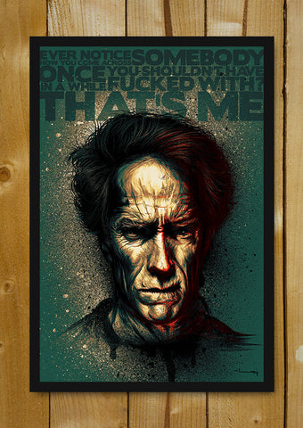 Glass Framed Posters, Clint Eastwood Artwork Glass Framed Poster, - PosterGully - 1