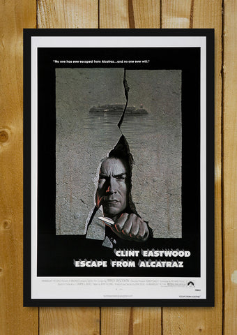 Glass Framed Posters, Clint Eastwood Escape From Alcatraz Glass Framed Poster, - PosterGully - 1