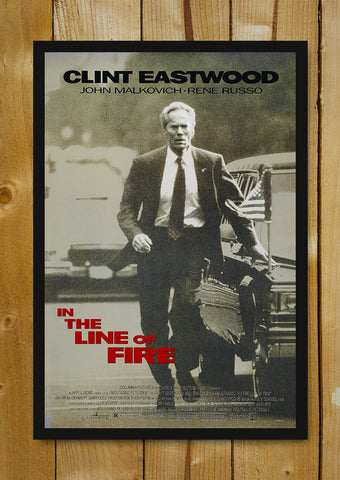 Glass Framed Posters, Clint Eastwood In the line of fire Glass Framed Poster, - PosterGully - 1