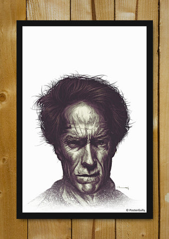 Glass Framed Posters, Clint Eastwood Matte Raj Khatri | Glass Framed Poster, - PosterGully - 1