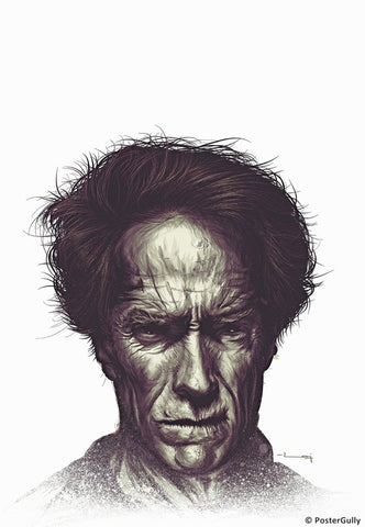 Wall Art, Clint Eastwood Matte | Raj Khatri, - PosterGully