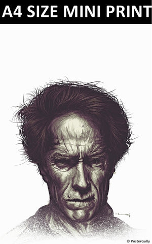 Mini Prints, Clint Eastwood Matte | Raj Khatri | Mini Print, - PosterGully
