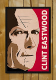 Glass Framed Posters, Clint Eastwood Pop Red Glass Framed Poster, - PosterGully - 1