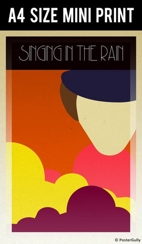 Mini Prints, Clockwork Orange | Singing In The Rain | Mini Print, - PosterGully