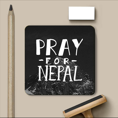 PosterGully Coasters, Pray For Nepal Coaster | Artist: Inderpreet Singh, - PosterGully