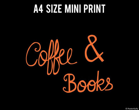 Mini Prints, Coffee And Books  | Mini Print, - PosterGully