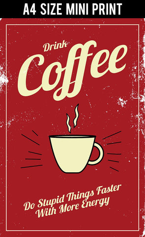 Mini Prints, Coffee Energy Vintage | Mini Print, - PosterGully
