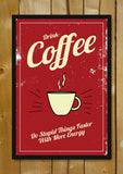 Glass Framed Posters, Coffee Energy Vintage Glass Framed Poster, - PosterGully - 1
