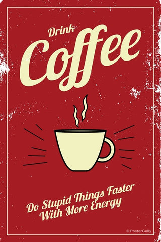 Wall Art, Coffee Energy Vintage, - PosterGully