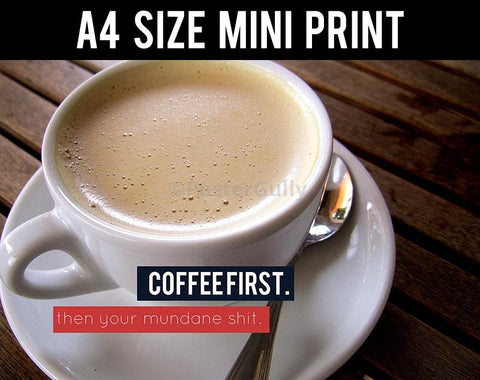 Mini Prints, Coffee First | Mini Print, - PosterGully