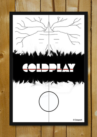 Glass Framed Posters, Coldplay Album Minimal Artwork Glass Framed Poster, - PosterGully - 1