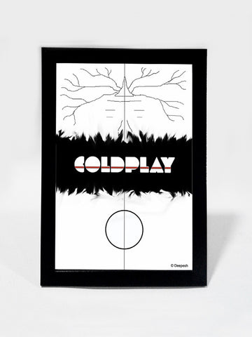 Framed Art, Coldplay Album Minimal Artwork | Framed Art, - PosterGully