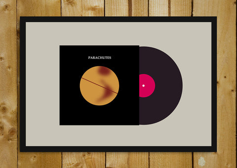 Glass Framed Posters, Coldplay Parachutes Album Cover Glass Framed Poster, - PosterGully - 1