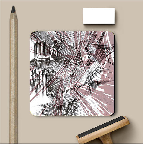 PosterGully Coasters, Colorful Abstract Coaster | Artist: Parichay Sood, - PosterGully